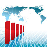Negative economy chart Royalty Free Stock Photography
