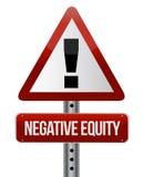 Negative Eigenkapitalszeichenabbildung Stockbilder