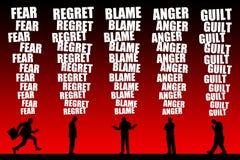 Negative emotions vector illustration
