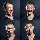 Negative emotions man Royalty Free Stock Photo