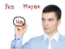 Negative Entscheidung Lizenzfreies Stockbild
