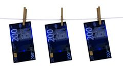 Negative euro on the line Royalty Free Stock Photo