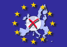 Negative europe voting Stock Photography