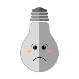 Negative feeling on light bulb icon. Thinking design.   Stock Photography
