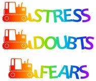 Negative feelings. Getting rid of negative feelings and feeling better Royalty Free Stock Photo