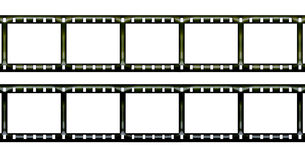 Negative film. Blank negative film isolated on white Royalty Free Stock Image