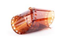 Negative film. On the white background Stock Photos