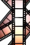 Negative film. A negative film reel background Stock Photos