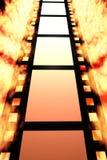 Negative film. A negative film reel background Stock Photography