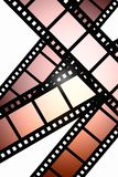 Negative film. A negative film reel background Stock Photo
