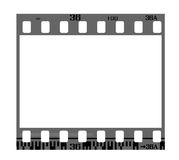 Negative film frame. 35mm negative frame, with details and accurate dimension Stock Image