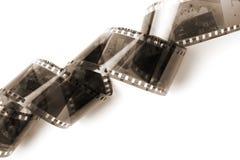 Negative film isolated. On white Royalty Free Stock Photos