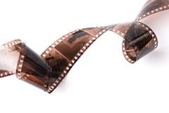 Negative film isolated. On white royalty free stock image