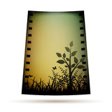 Negative film with landscare Stock Images