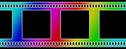 Negative film strip Royalty Free Stock Image