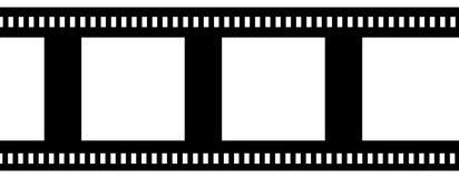 Negative film strip. Blank negative film strip on white Stock Photo