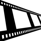 Negative film strip. Disappearing into the distance Royalty Free Stock Photography