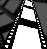 Negative film strip. Disappearing into the distance Stock Photo
