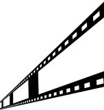 Negative film strip. Disappearing into the distance Stock Image