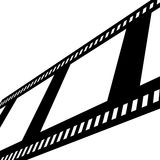 Negative film strip. On white background Royalty Free Stock Image