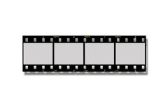 Negative film strip. On white background Royalty Free Stock Images