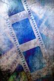 Negative film strip. A Worn negative film strip Stock Photo