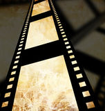 Negative film strip. Disappearing into the distance Royalty Free Stock Photos