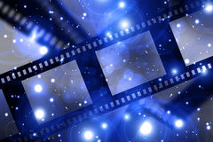 Negative film strip. On a dark background Royalty Free Stock Images