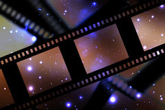 Negative film strip. On a dark background Royalty Free Stock Image