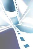 Negative film strip. On a soft blue background Stock Photography