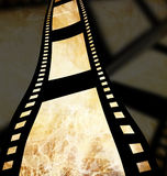 Negative film strip. Disappearing in the distance Stock Photography