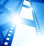 Negative film strip. Disappearing into the distance Royalty Free Stock Images
