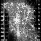 Negative film strip. Old black and white negative film strip with some spots and stains on it Stock Photo