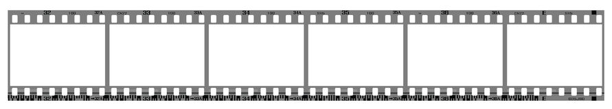 Negative filmstrip frames Royalty Free Stock Image