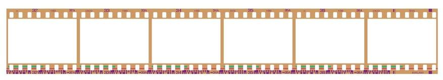Negative filmstrip frames Stock Images