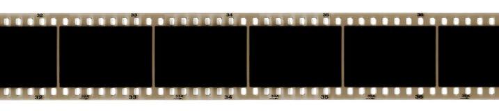 Negative frame strip. Old brown negative frame strip royalty free illustration