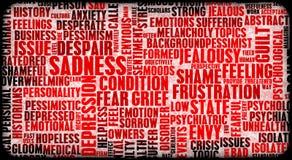 Negative Gefühle lizenzfreie abbildung