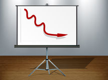 Negative graph Royalty Free Stock Image