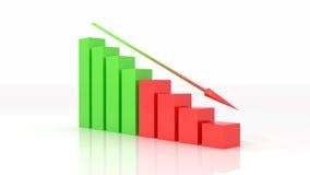 Negative graph 3d illustration Royalty Free Stock Photo
