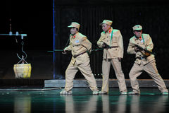 Negative images of soldiers- Jiangxi opera a steelyard. Jiangxi opera a steelyard is adapted from a true story: the last century fortys, the protagonists father Royalty Free Stock Image