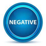 Negative Eyeball Blue Round Button royalty free illustration