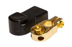 Negative Kontaktanschluß Autobatterie Lizenzfreies Stockbild