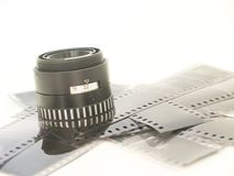 Negative and lens Stock Image
