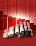 Negative Market Money Royalty Free Stock Photo