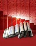 Negative Market Money Stock Image