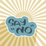 Negative message symbol background Royalty Free Stock Images