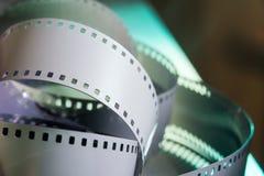 Negative 35 mm film. Spun photographic film Stock Image