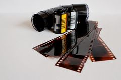 Negative with movies Stock Photography