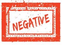 NEGATIVE on orange square frame rubber stamp with grunge texture. Illustration Royalty Free Stock Image