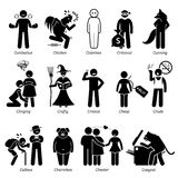 Negative Personalities Character Traits Clipart Royalty Free Stock Image